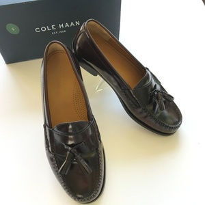 COLE HAAN Burgundy Leather Tassel Shoes~9E